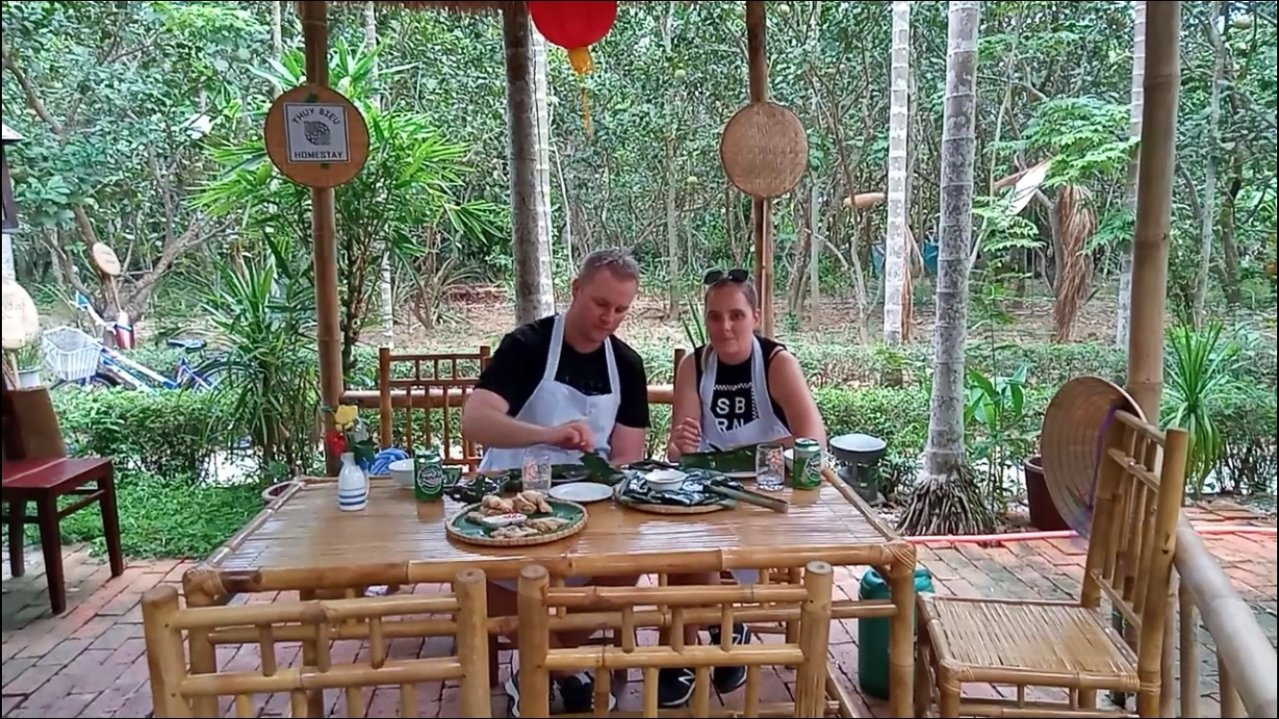 THUY BIEU POMELO GARDEN CYCLING AND COOKING CLASS  (A)